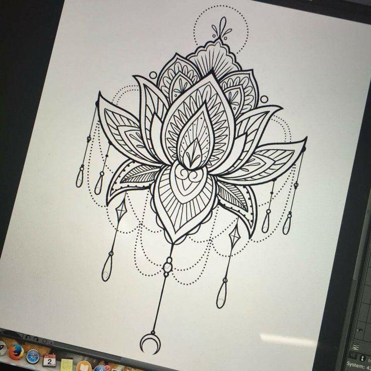 """Résultat de recherche d'images pour """"lotus mandala tattoos"""""""