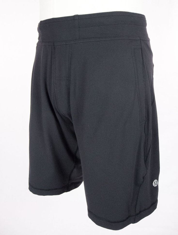 LULULEMON Mens Shorts Size L Black Casual #Lululemon #Shorts