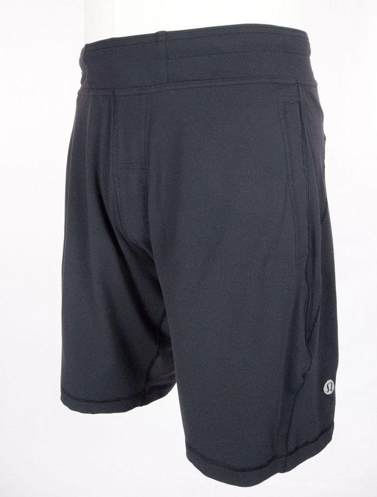 lululemon mens shorts size l black casual lululemon