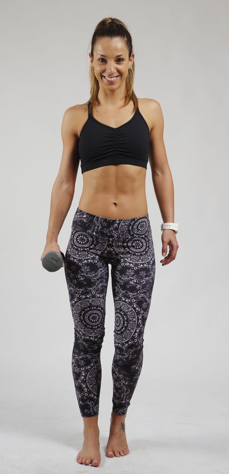 Leggins Mandala Blanco Negro Sweet Sweat