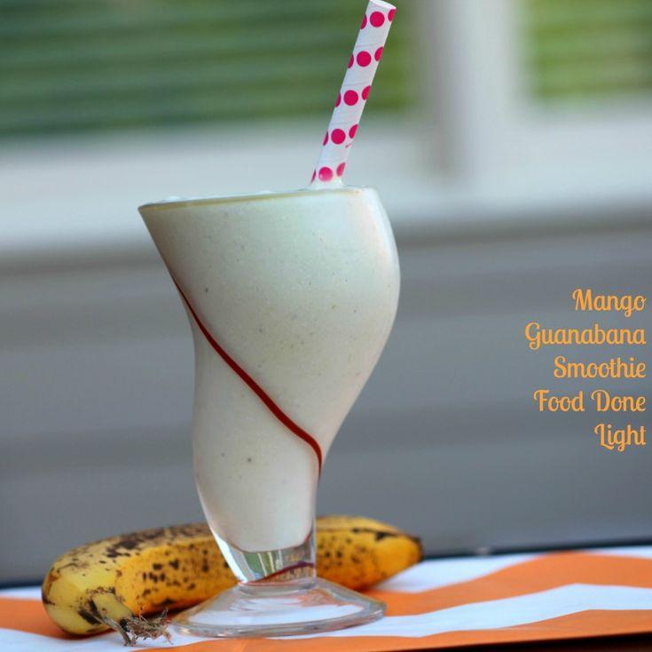 Mango Guanabana Smoothie www.fooddonelight.com #smoothierecipe #proteinshake #mangosmoothie #healthybreakfast #proteinpowder