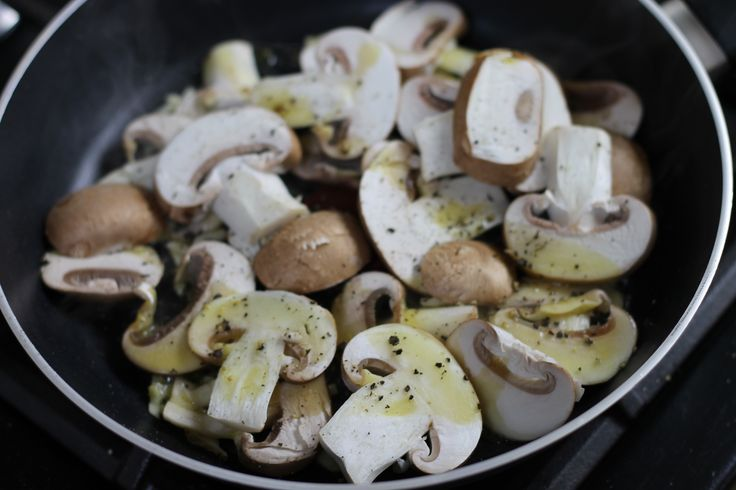 Try frying some mushrooms to put on top of your delicious pizza made with Northern Dough Co. dough. #pizzadough #pizzatoppings