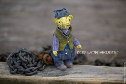 Купить Village boy - лимонный, медведи тедди, мишки тедди, муравьед, игрушки ручной работы