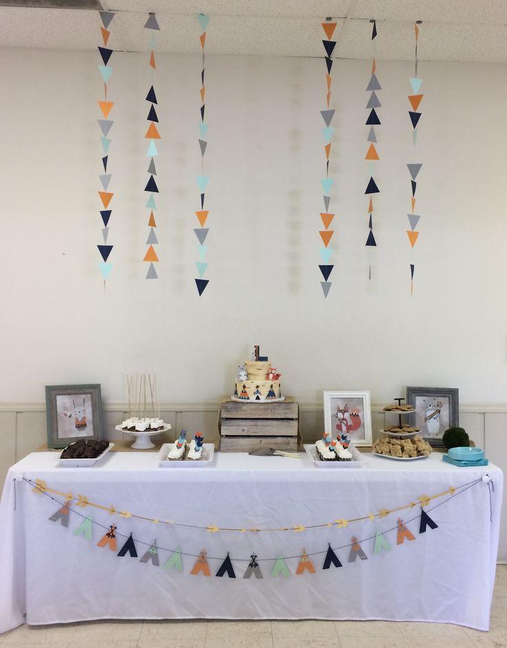 Tribal   Woodland Animal Baby Shower   Dessert Table!