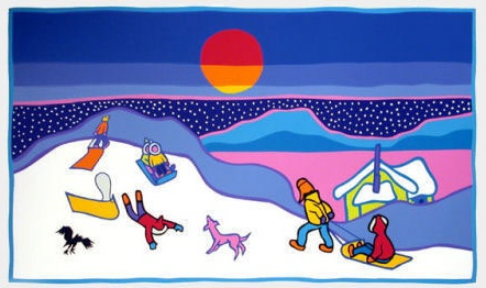 Sledding by Ted Harrison