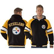 Yeah, I want this one!  Pittsburgh Steelers Fumble Recovery Full Zip Jacket - Black
