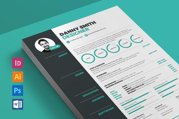 Resume 3 by ikono.me on @creativemarket