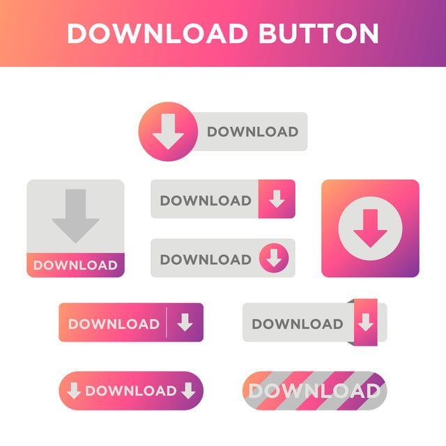 Gradient Download Button Icon Vector Button Website Vector Png And Vector With Transparent Background For Free Download Cartoon Styles Vector Free Buttons