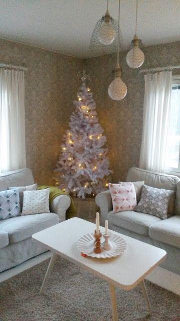 Rintamamiestalon olohuoneen joulu