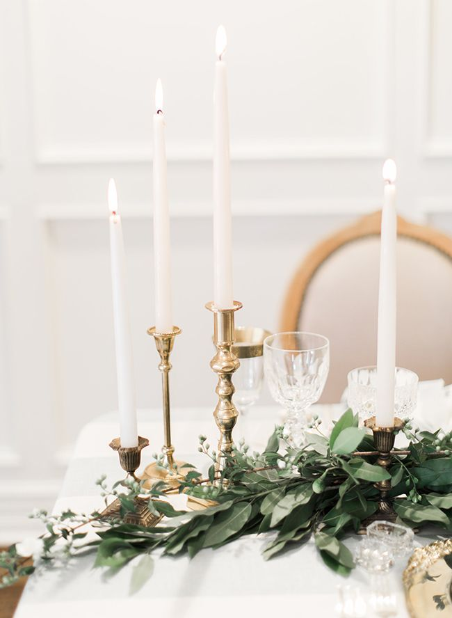 Best ideas about candlestick centerpiece on pinterest
