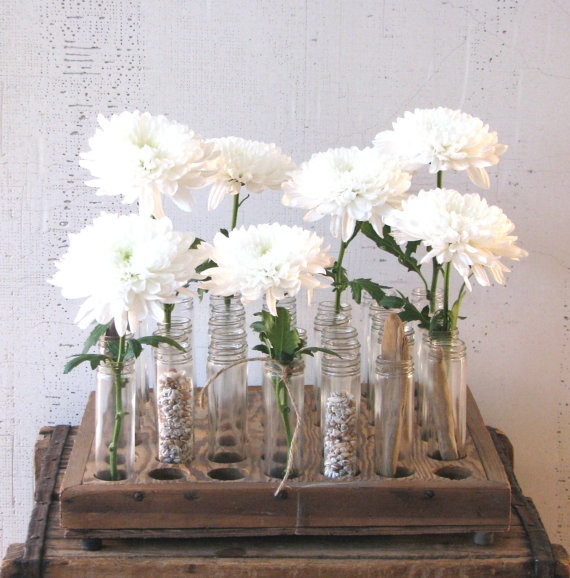 Factory glass tubes industrial urban farmhouse style centerpiece vases centerpieces