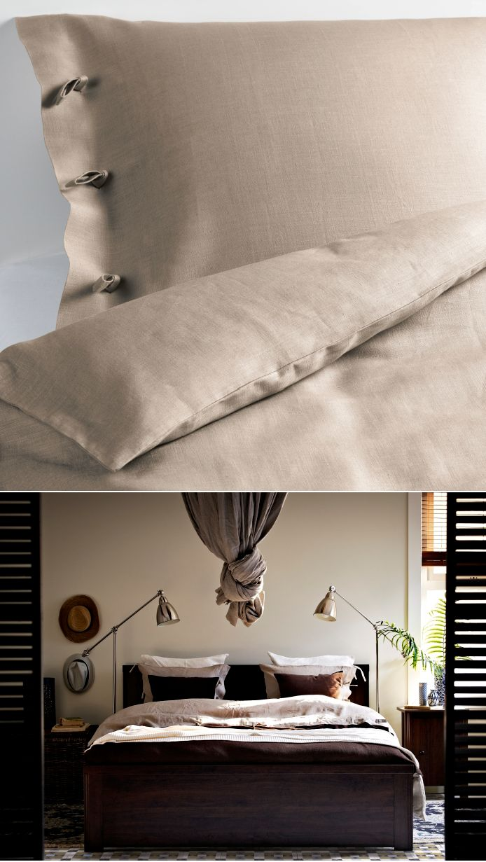 Fall color linen bedding like the LINBLOMMA