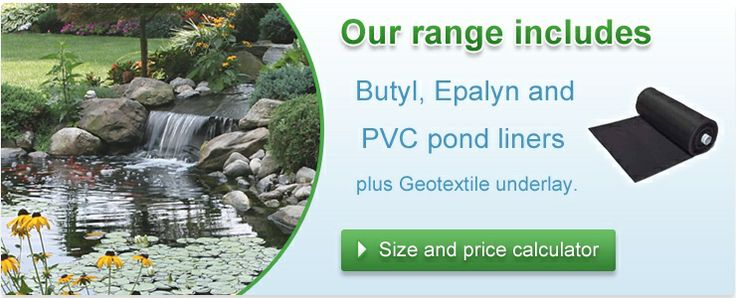 Pond liners epalyn and butyl pond liner pond pumps for Koi pond volume calculator