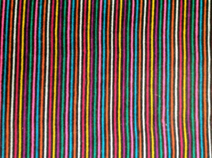 Mexican Fabric Cambaya By the Yard Multicolor Stripes Tela Mexicana Turquoise
