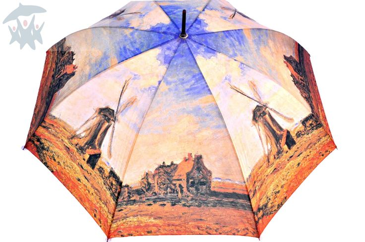 "Stylowy, damski parasol Art Collection Monet ""Wiatrak"" ParasoleDlaCiebie.pl"