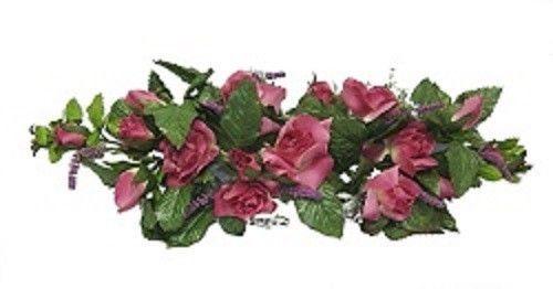 23-in-Rose-Swag-Wedding-Silk-Flowers-Spray-Artificial-Arrangements
