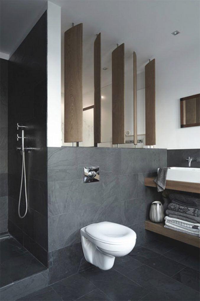 Badezimmer Fliesen Und Holz Badezimmer Badezimmer Anthrazit Holz