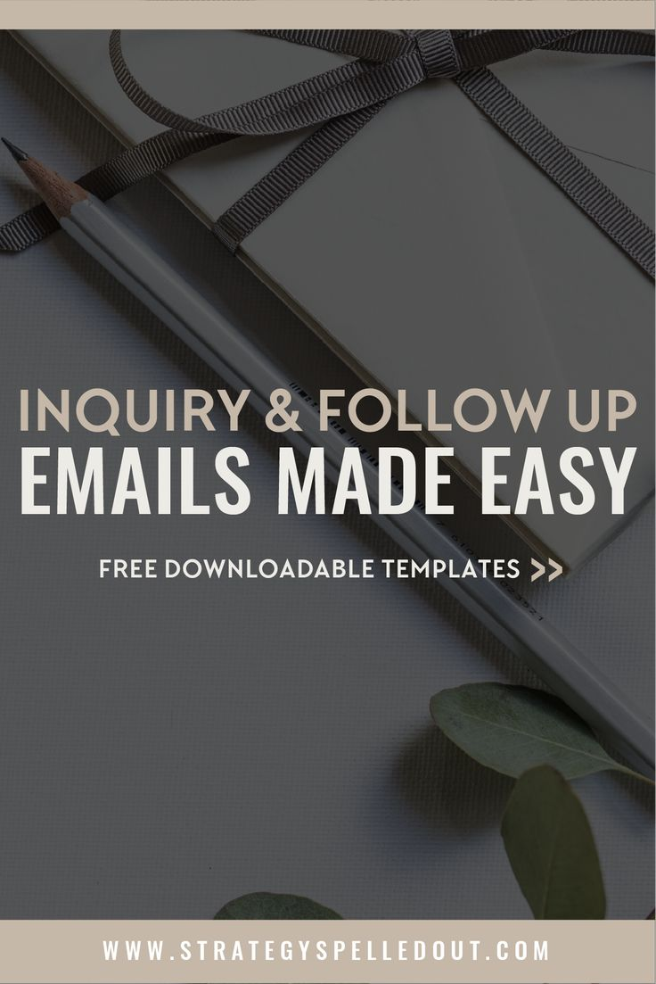 Inquiry & Follow Up Emails Made Easy   The three main things you should focus on when communicating with clients are building a connection, demonstrating demand, and providing resources to build your value   Get your free email templates   @brandywilletts   www.strategyspelledout.com  #inquiryemails #followupemails #smallbusiness #clientemails #emailtemplates