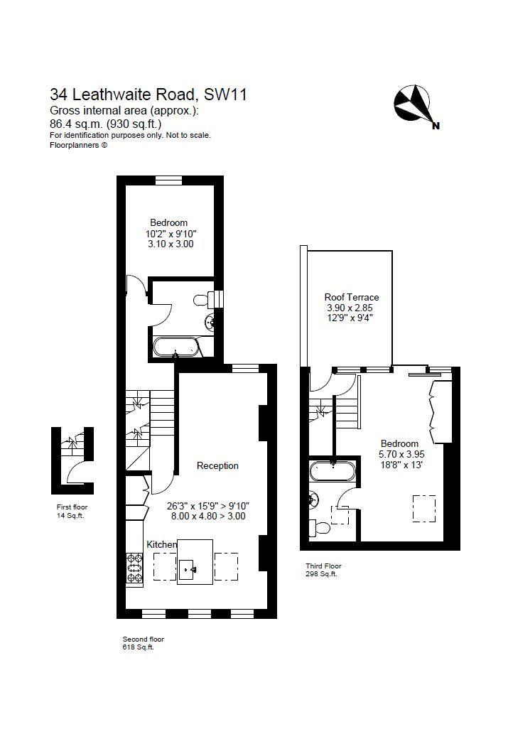 Leathwaite Road floor plan
