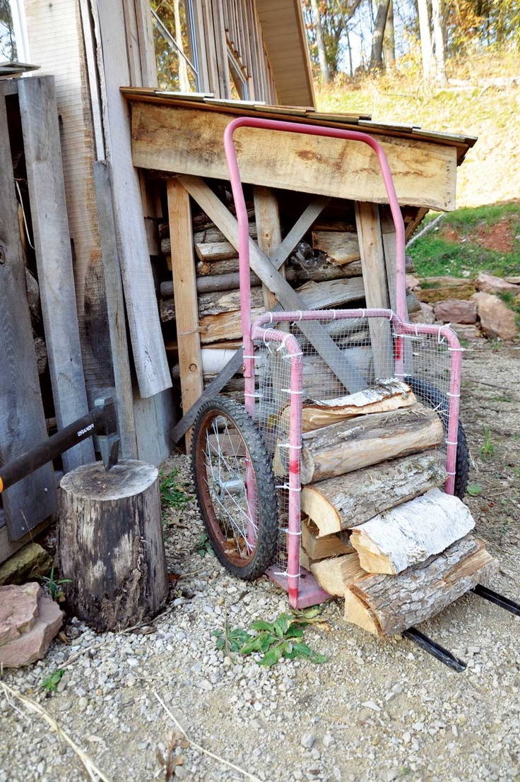 firewood carrier from cart good to keep in mind - Firewood Carrier