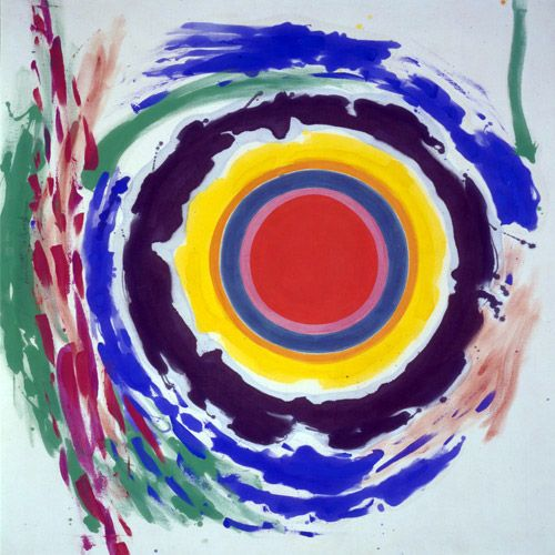 """Kenneth Noland - Heat, 1958  """"There are two things that go on in art. There's getting to the essential material and a design that's inherent in the use of material, and also an essential level of expressiveness, a precise way of saying something rather than a complicated way."""" - Kenneth Noland  http://www.kennethnoland.com/"""