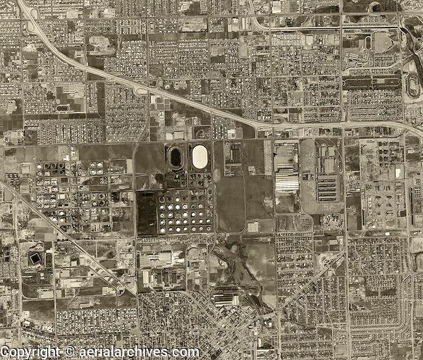 Historical Aerial Photograph Torrance Los Angeles County California 1963 Aerial Photograph Torrance Torrance California