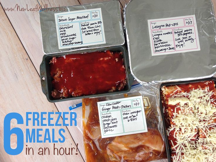 And here's yet another great freezer cooking post! New Leaf Wellness shows you how to prep six freezer meals in an hour.