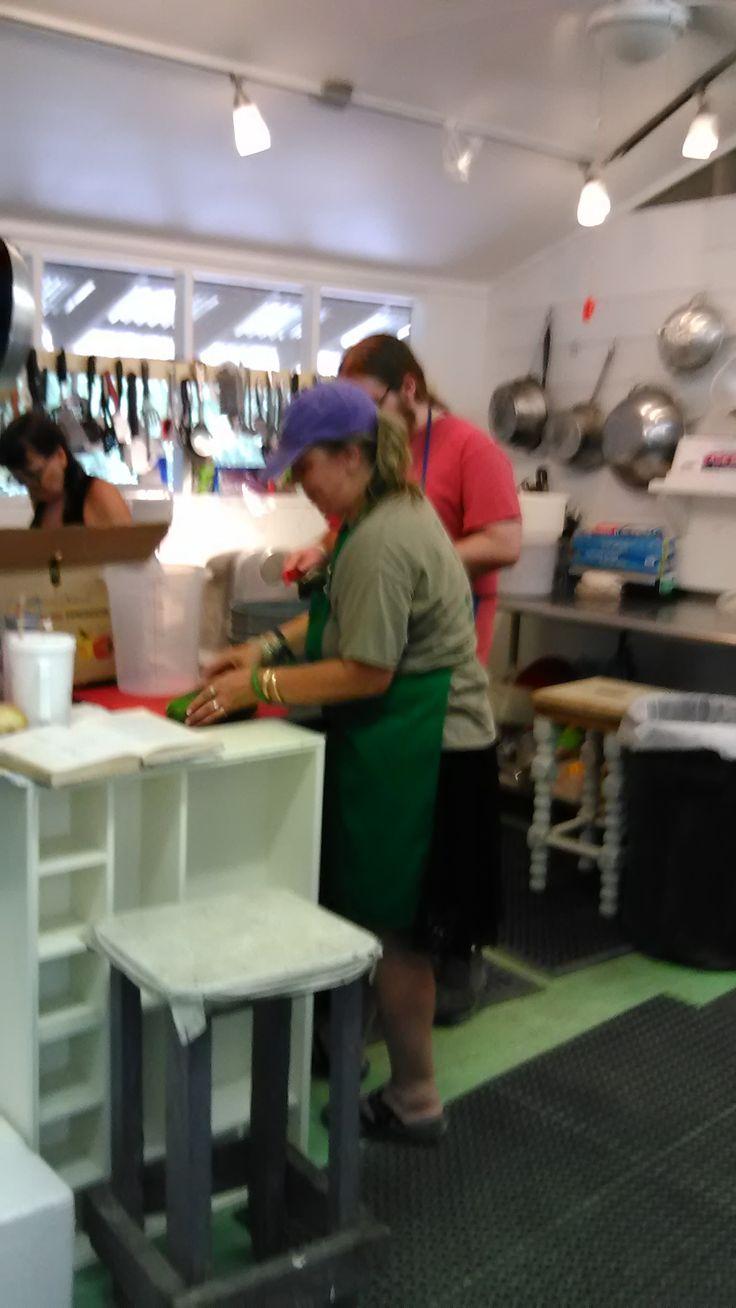 Staff Kitchen!  200-300 meals twice daily!
