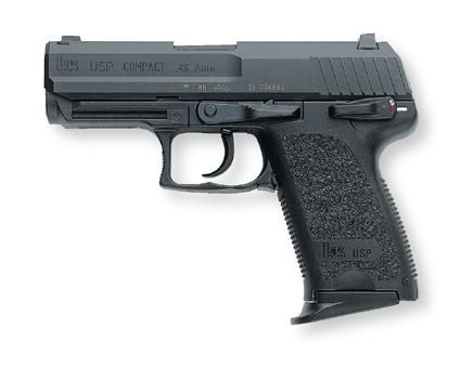 HK USP 45 Compact, Night Sights, Single/Double Action V1 2 8rd Mags