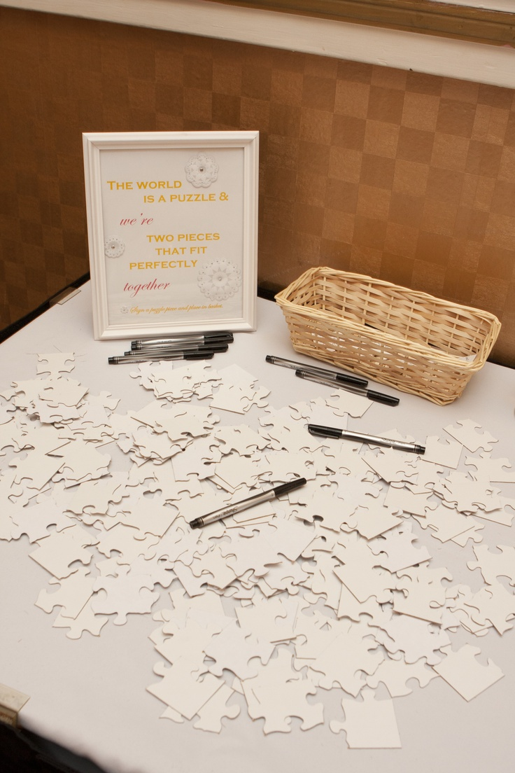 17 best ideas about puzzle guest books on pinterest