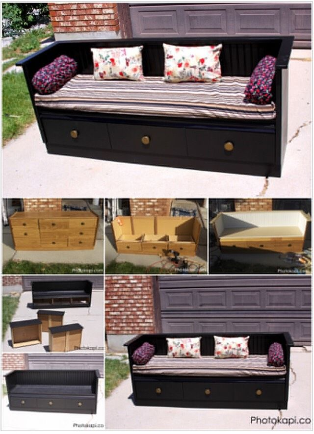 Turn An Old Dresser Into An Awesome Bench.  Step By Step Instructions.#DIY&Crafts#Trusper#Tip