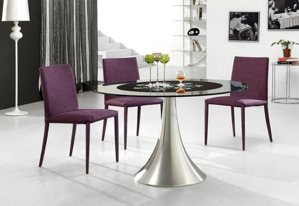 1000 ideas about purple dining rooms on pinterest plum for Purple dining room table