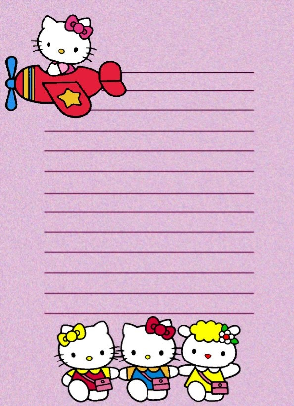 PAPEL DE CARTA 9: Hello Kitty