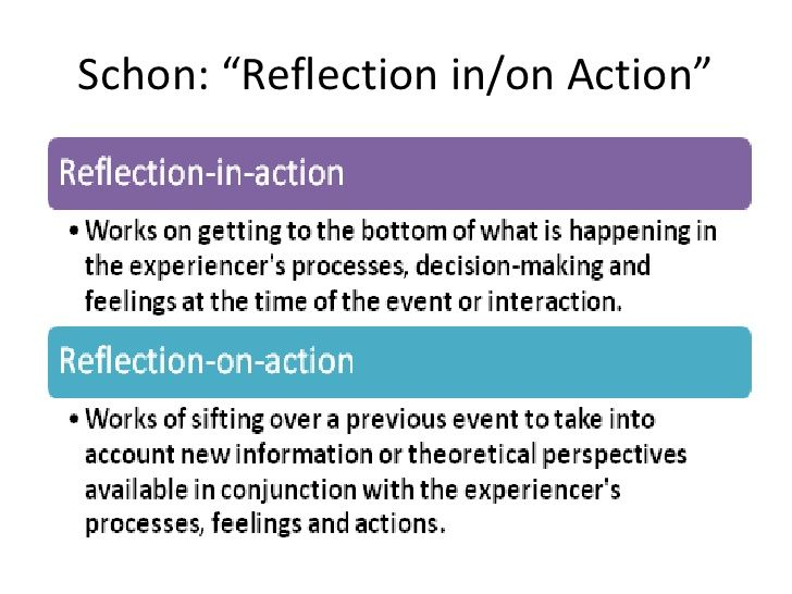 Schon model of reflection