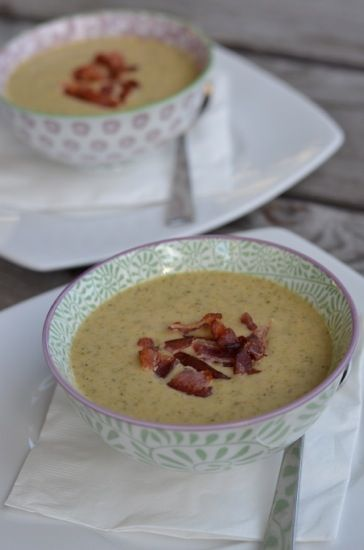 Recipe: Broccoli Cheese Soup (with bacon!) - 100 Days of Real Food
