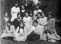 Recruiting students for the new school was not easy at first. Mothers were wary of sending their daughters so far to what seemed like a wilderness. Plus, the tuition was pretty high at $2.00 a month (including lunch and bus fare). By September 1918, fifteen girls were enrolled. They were called the Fortunate Fifteen, one for each mystery of the rosary.