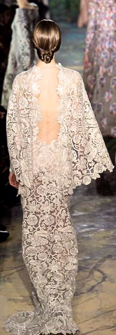 Valentino -------------- as a wedding gown or something but that dress is beautiful from the back.