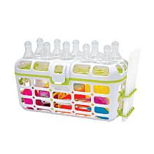 """Used this daily.  Never """"sterilized"""" bottles.  Ran them through the dishwasher (put the Dr. Browns parts in this) and left them on a drying rack between feedings."""