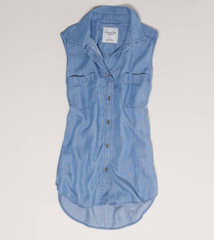 AE Denim Sleeveless Shirt