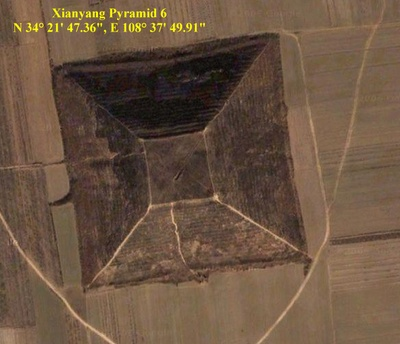 Chinese Pyramid in Xianyang. Most footage of Chinese pyramids is arial. The Chinese government are very reluctant to let foreigners in to study the structures and have only once agreed to a visa for this purpose.