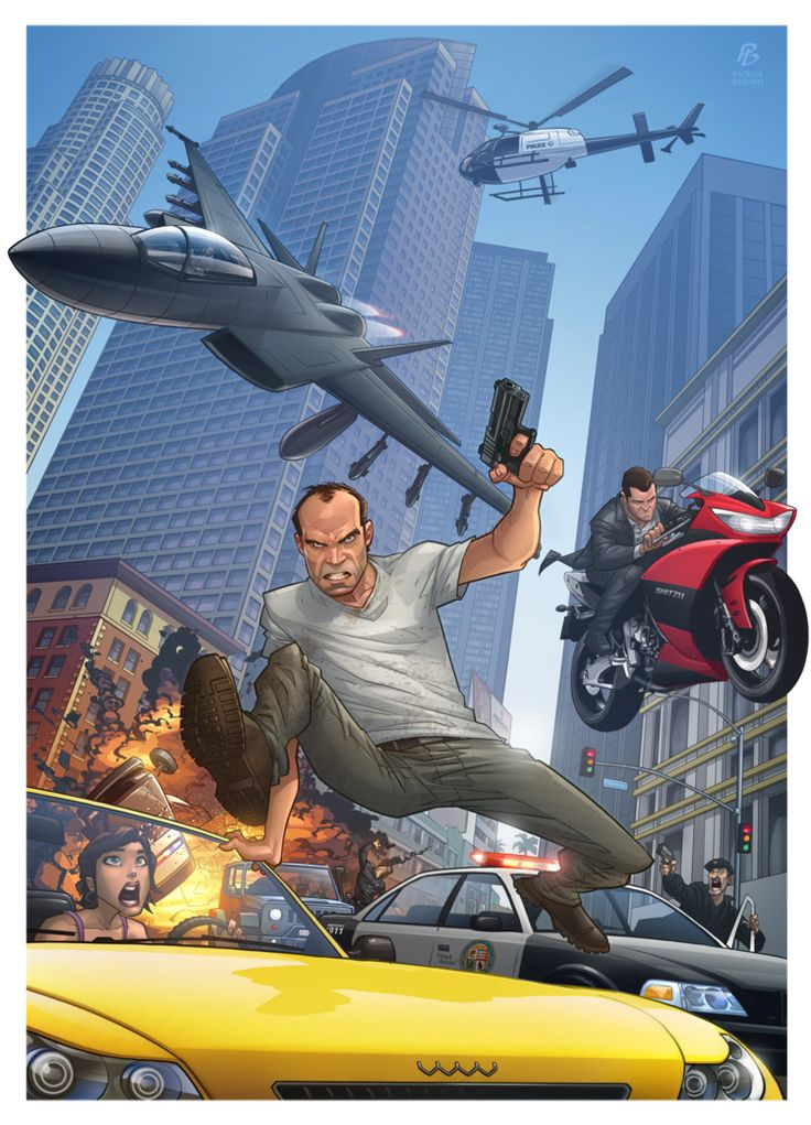 gta v art collection by patrick brown
