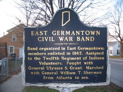 East Germantown Civil War Band Marker. Click for full size.