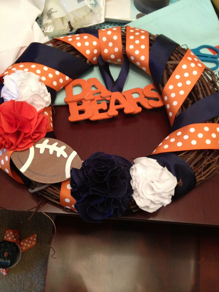 Chicago Bears Football Wreath (might need to make one for the hubby)