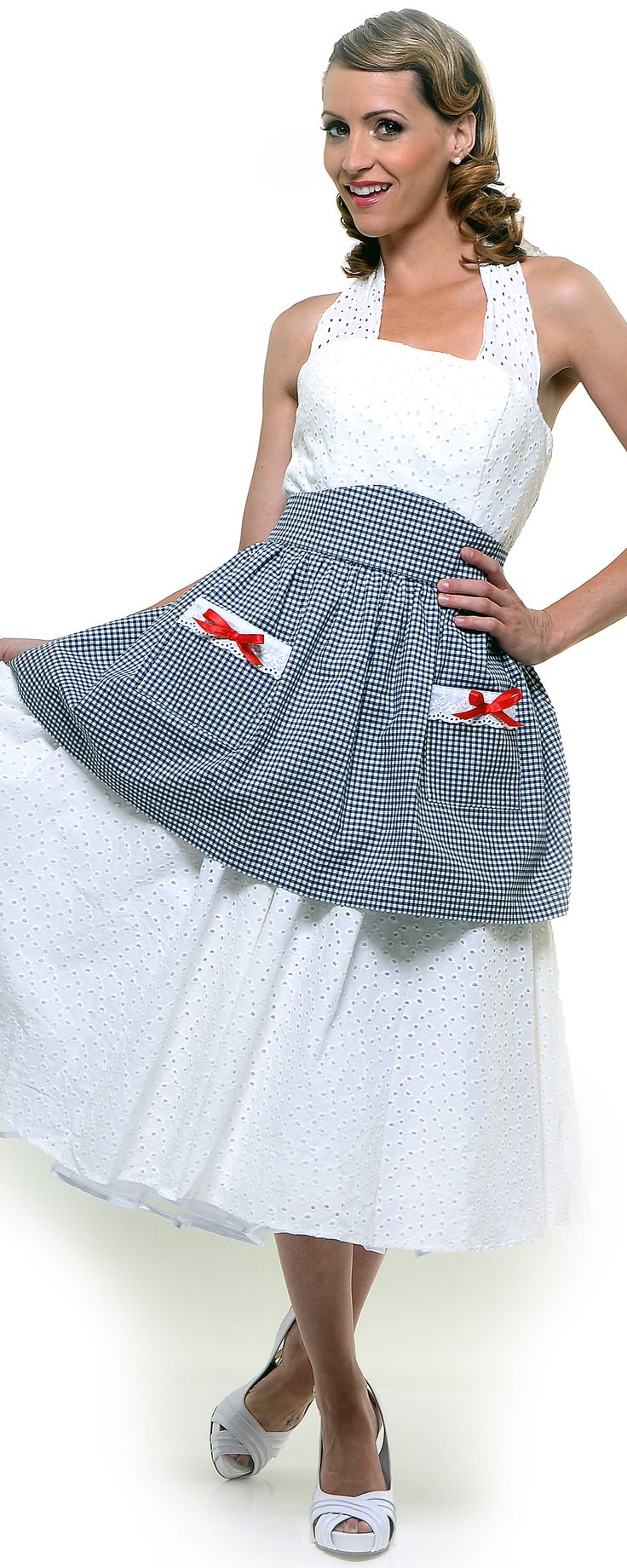 White aprons for sale - Sale Black And White Gingham Cotton Sweetheart Apron Unique Vintage Prom Dresses