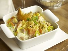 Vispannetje met zalm en kabeljauw in de oven - met light room en light kaas