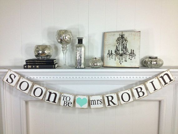 Bridal Shower Decorations Bridal Shower Banners Soon To Be Mrs. Banner Bachelorette CUSTOMIZE YOUR NAME on Etsy, $26.00