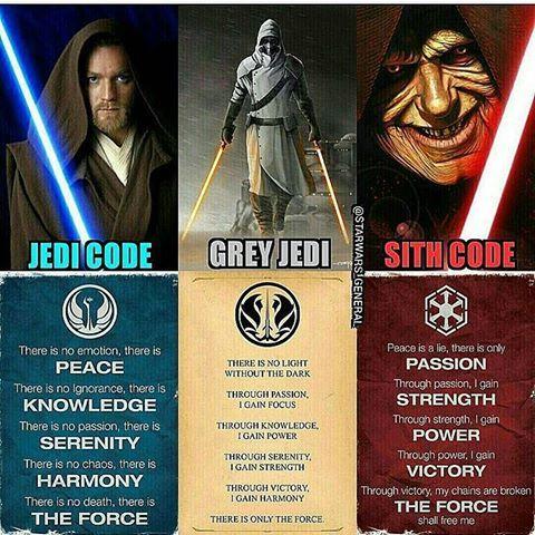 Jedi, sith and grey