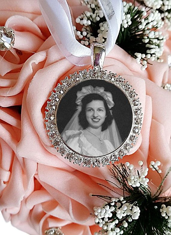 Bouquet Charm Bridal Bouquet Memorial charm Wedding by Pics2Jewels