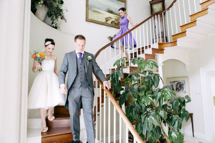The wonderful stairs, perfect for your grand entrance at East Bridgford Hill Country House Image by Lee Garland.