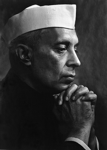 Jawaharlal Nehru (1889-1967) - first Prime Minister of India and a central figure in Indian politics for much of the 20th century. Photo Yousuf Karsh, 1956